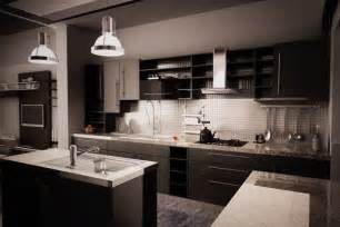 Kitchen Design With Dark Cabinets am 233 nagement cuisine moderne quels design et mat 233 riaux