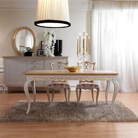 tavoli da pranzo classici tavolo da pranzo in legno decorato a mano in stile