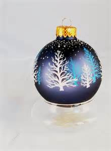 ornament hand painted christmas winter stillness