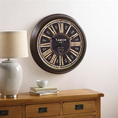 Oak Furniture Land Clocks by Louvre Wall Clock By Oak Furniture Land