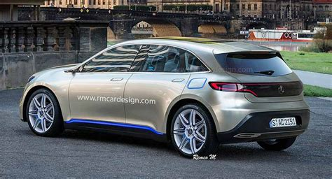 mercedes eq compact ev hatchback rendered