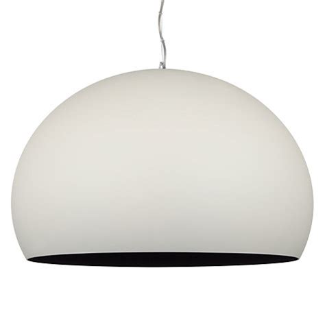 Kartell Fly Ceiling Light Buy Kartell Fly Soft Touch Pendant Ceiling Light Medium White Lewis