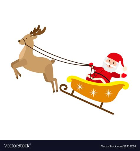 where to buy a sled and reindeer for the roof of your house santa claus reindeer sleigh vector image