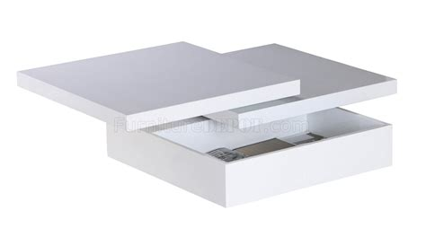 White Coffee Tables With Storage | mellow square motion white coffee table w storage by whiteline