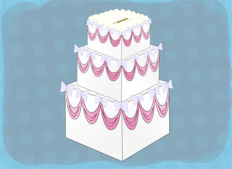 How to Make a Cake Shaped Box to Hold Wedding Cards: 14 Steps