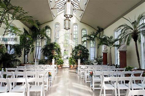 St Louis Wedding Photography Allie And Antwan S Piper Palm House Wedding Ceremony