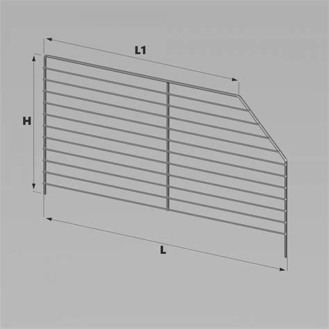 scaffali in filo metallico divisori trapezoidali c c sael accessori in filo