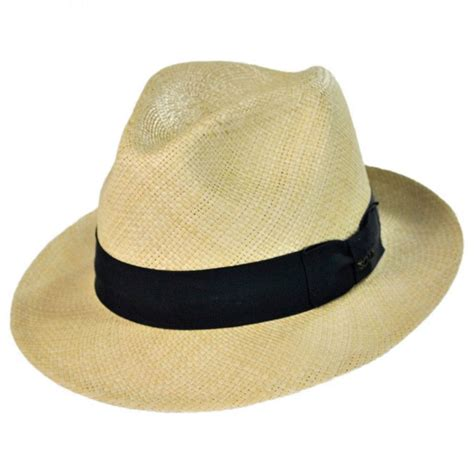 Scala Snap Brim Panama Hat Straw Hats