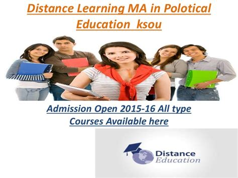 Distance Mba In India 2015 by Distance Learning Courses Ma In Polotical Edbca