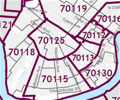 zip code map new orleans map of new orleans zip codes zip code map