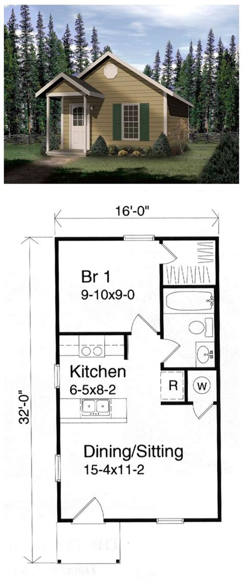 weekend cabin floor plans house plan 49132 pinterest front deck cabin and house