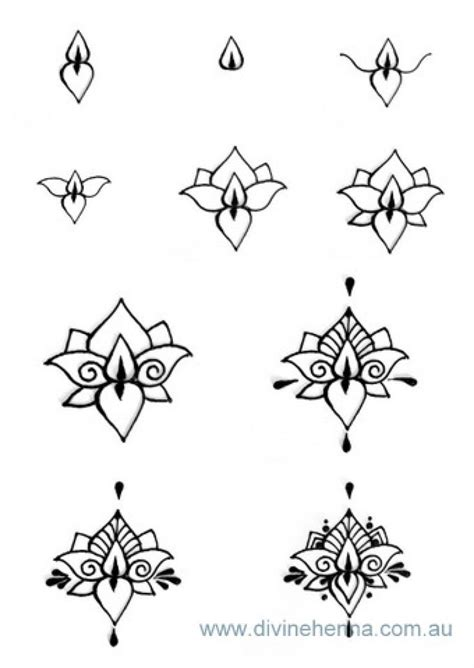 tattoo designs step by step henna step by step lotus and other henna designs