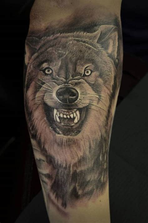 3d wolf tattoo hd snarling 3d wolf tattoos