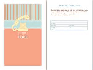 phone book template address book template word