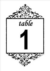 Free Printable Table Numbers Template 6 Best Images Of Printable Table Number Templates Free