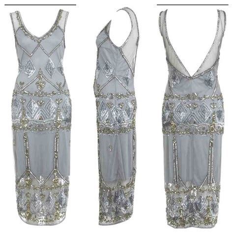 Miss Selfridge Embelished Dress stunning miss selfridge vintage sequin embellished deco