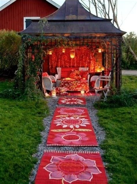 Bohemian Backyard by 37 Beautiful Bohemian Patio Designs Digsdigs