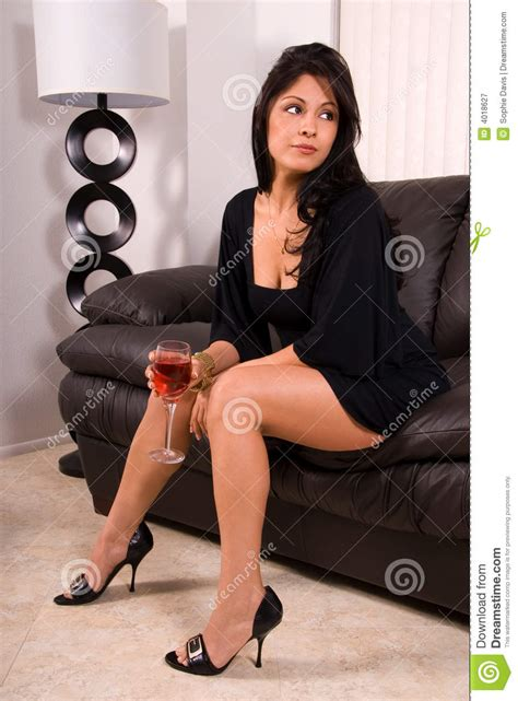 Glamorous Woman With Wine. Royalty Free Stock Photography