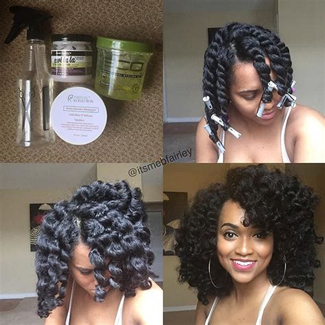 Show Me Some Flat Twist Style On Natural Black Hair | by itsmebfairley twist out with perm rods products used