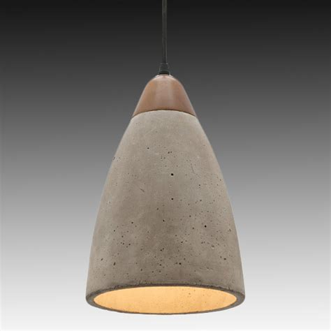 pendant lighting ideas large dome concrete pendant light