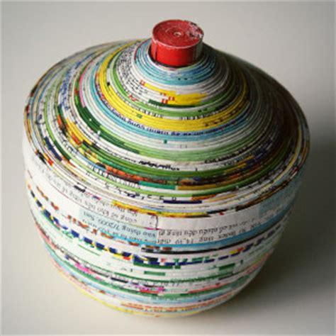Magazine Paper Crafts - magazine paper dish and lid allfreepapercrafts