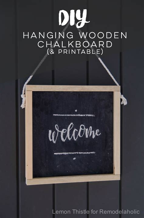 chalkboard sign template remodelaholic how to make your own wooden chalkboard