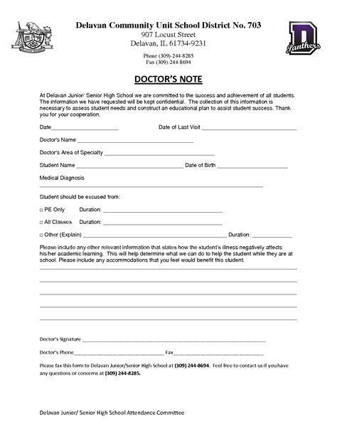 doctors note for school template doctors note template beepmunk