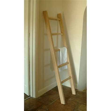 towel ladders for bathrooms raw oak towel ladder wooden clothes hanger and bathroom