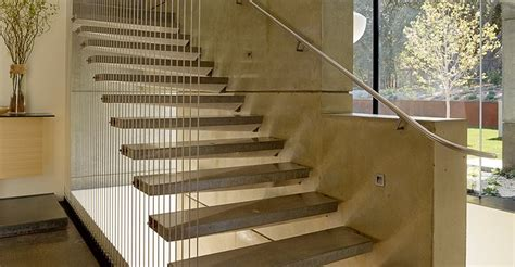 Exterior Concrete Cantilevered Stair Frontal cantilevered concrete stairs the concrete network
