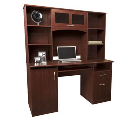 landon desk with hutch cherry http www officemax