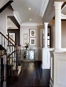 Beautiful foyer decor inspiration love the white with dark wood move