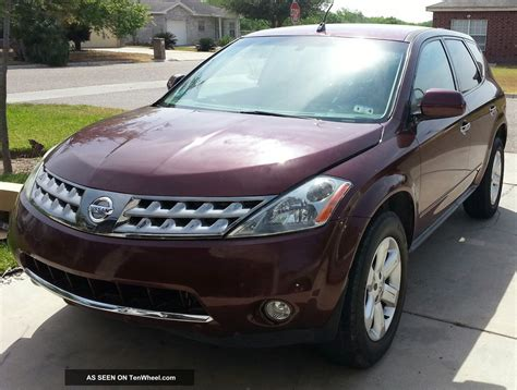 2006 Nissan Murano S by 2006 Nissan Murano S Awd Title Maroon