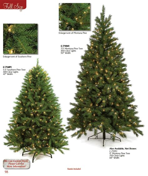 full line christmas trees