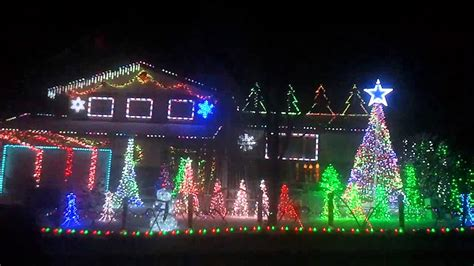 jingle bells best christmas light show to music 3 homes
