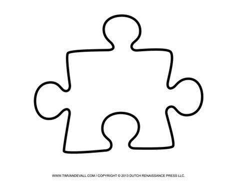blank puzzle piece template free single puzzle piece
