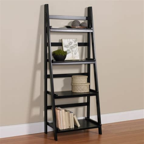 4 tier black ladder shelf kit 14982791 overstock