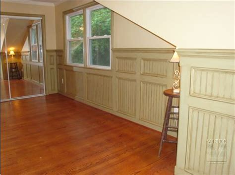 Wainscoting Beadboard Panels Paneled Beadboard Wainscoting Mitre Contracting Inc