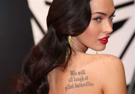 tattoo quotes for upper back 25 great celebrity tattoos of female creativefan