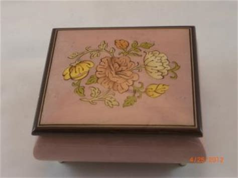 on flower burl box sorrento floral inlay matte finish musical jewelry box sorrento
