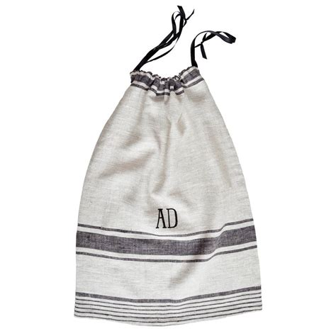 monogrammed laundry monogrammed linen laundry bag by miafleur