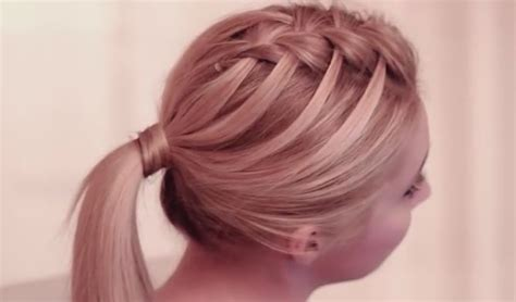 Criss Cross Hairstyles by Step By Step Tutorial For Criss Cross Waterfall Braid