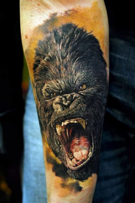 gorilla tattoo domantas parvainis king kong amazing and tattoos