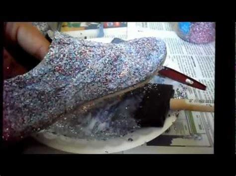 decorar zapatillas con glitter como customizar zapatos con glitter youtube