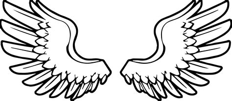 angel wings angel coloring page wecoloringpage