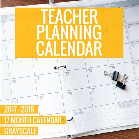 printable 2017 2018 calendar template kindergartenworks