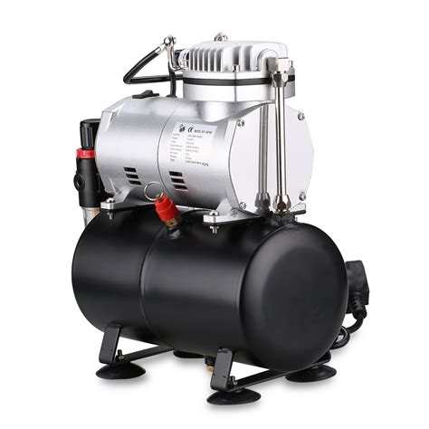 auto single cylinder piston airbrush compressor 6hp spray air tool air tank hose ebay