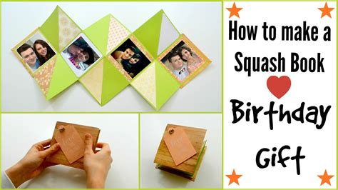 How To Make Gifts With Paper - how to make a squash card book diy paper crafts