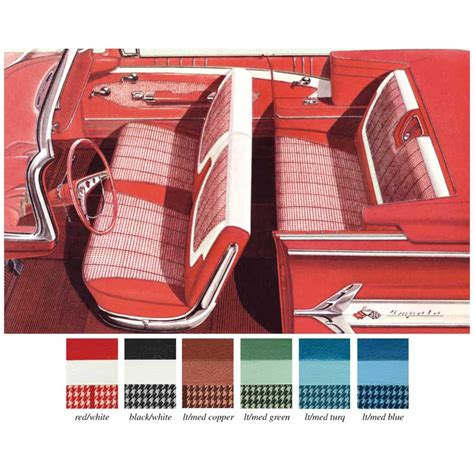 Classic Car Upholstery Kits by 1960 Impala Parts Interior Soft Goods Seat Upholstery
