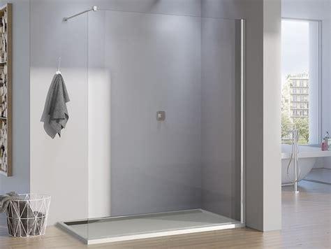 duschabtrennung feststehend freistehende duschwand 80 x 200 cm walk in duschabtrennung