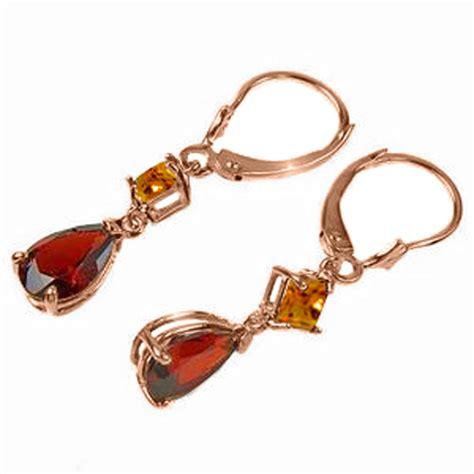 4 5 ctw 14k solid gold leverback earrings garnet